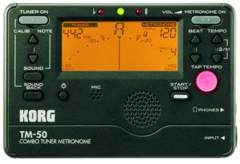Korg TM-50 Digital Metronome Tuner (KO-TM50BK)