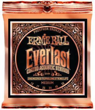 Ernie Ball Everlast Coated Phosphor Bronze Acoustic Guitar Strings, Medium 17 - 56 (EB-2544)