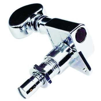 Grover 6 In Line Mini Locking Machine Heads, Chrome (GR-406C6)