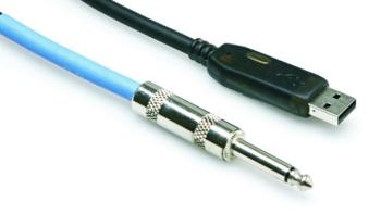"Hosa 1/4"" TS to USB Instrument Cable, 10' (OO-USQ110)"