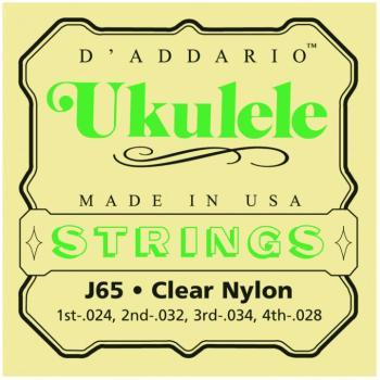 D'Addario Clear Nylon Soprano Ukulele Strings (DD-J65)