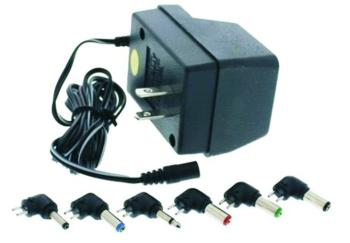 Value Series Universal AC Adaptor 3V - 12V DC 500ma with Six Tips (VL-CA1M)