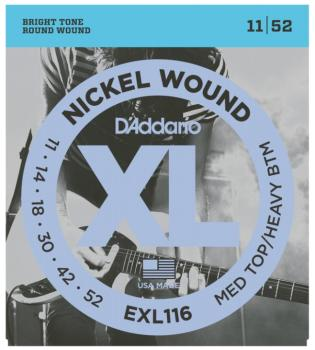 D'Addario XL Nickel Wound Guitar Strings, Medium Top/Heavy Bottom  (DD-EXL116)