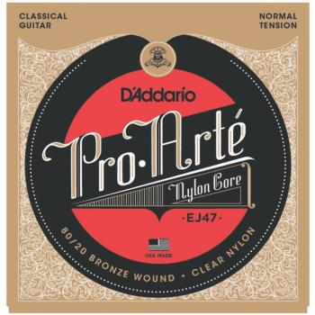 D'Addario Pro Arte' 80/20 Bronze Clear Classical Guitar Strings, Norma (DD-EJ47)