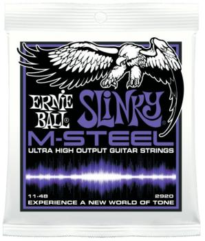 Ernie Ball M-Steel Power Slinky Electric Guitar Strings, 11 - 48 (EB-2920)