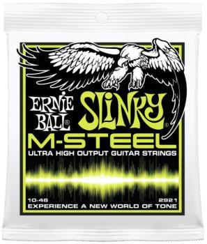 Ernie Ball M-Steel Regular Slinky Electric Guitar Strings, 10 - 46 (EB-2921)