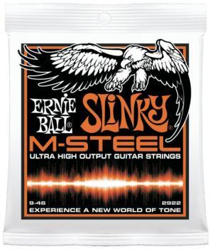 Ernie Ball M-Steel Hybrid Slinky Electric Guitar Strings, 9 - 46 (EB-2922)