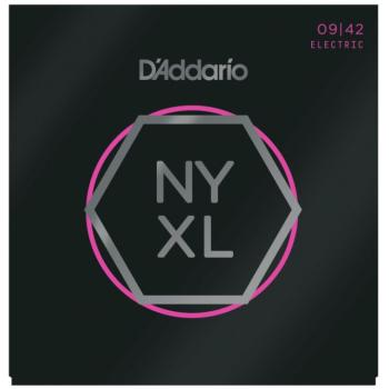 D'Addario NYXL Nickel Wound Electric Guitar Strings, Super Light (DD-NYXL0942)
