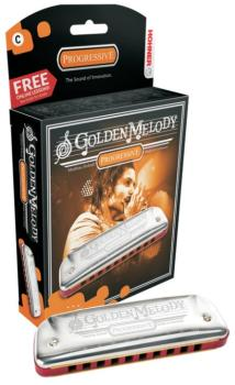 Hohner Golden Melody Harmonica (HH-MTR-HH542BL)