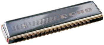 Hohner 32 Hole Double Sided Echo Harmonica, Key of C - G (HH-54CG)