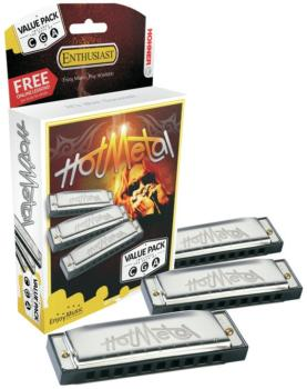 Hot Metal Value Pack, 3 piece set in the keys of C, G and A (HH-3P572BX)