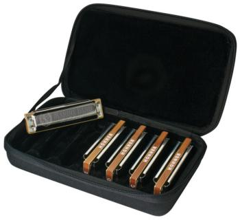 Hohner Case of Marine Bands, 5 Piece Harmonica Set with Carrying Case (HH-MBC)