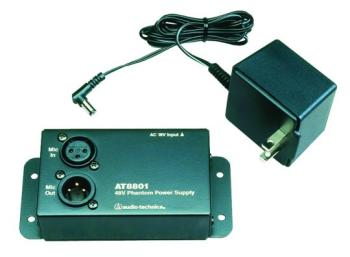 Audio-Technica Single Channel Phantom Power Adapt. (AT-AT8801)