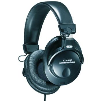 Audio-Technica Full Closed Back Monitor Headphones (AT-ATHM30)