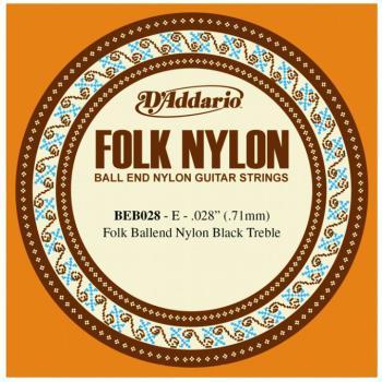 D'Addario Folk/Classical Single Strings, .028 (5) (DD-BEB028)