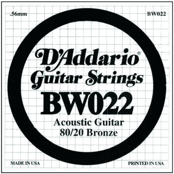 D'Addario 80/20 Bronze Single Strings, .022 (5) (DD-BW022)