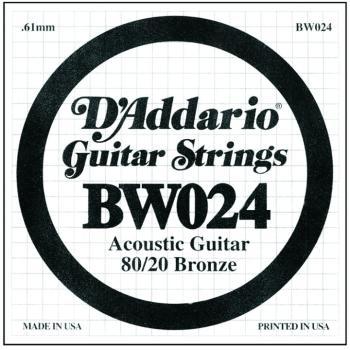 D'Addario 80/20 Bronze Single Strings, .024 (5) (DD-BW024)