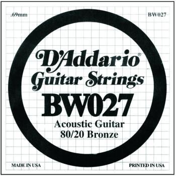 D'Addario 80/20 Bronze Single Strings, .027 (5) (DD-BW027)