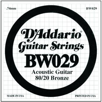 D'Addario 80/20 Bronze Single Strings, .029 (5) (DD-BW029)