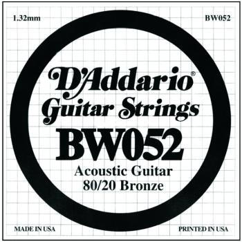 D'Addario 80/20 Bronze Single Strings, .052 (5) (DD-BW052)
