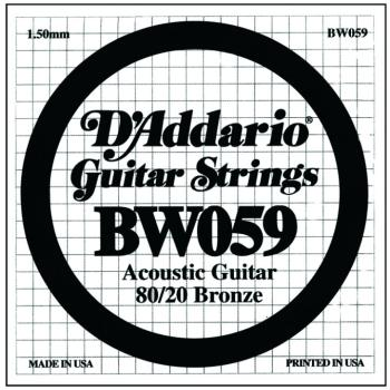D'Addario 80/20 Bronze Single Strings, .059 (5) (DD-BW059)