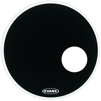"Evans EQ3 Resonant Black Bass Drumhead, 22"" (EV-BD22RB)"