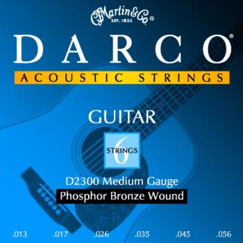 Darco Phosphor Bronze Acoustic String Set, Medium (D2300)