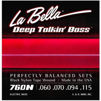 La Bella® Deep Talkin' Black Tape Nylon Bass Set (LB-L760N)
