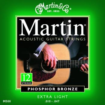 Martin Phosphor Bronze Strings, 12 St. Extra Light (MA-M500)