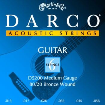 Darco 80/20 Bronze Acoustic String Set, Medium (DR-D5200)