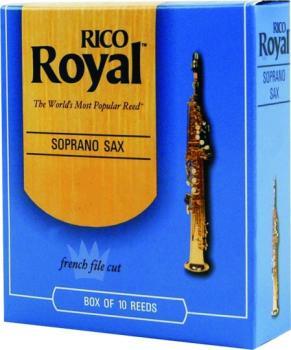 Rico Royal Soprano Sax Reeds, 10 Per Box (RR-MTR-701R)
