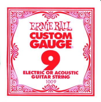 Ernie Ball Plain Steel Single Strings, .009 (6) (EB-EB1009)