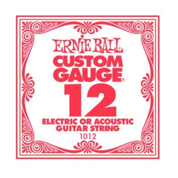 Ernie Ball Plain Steel Single Strings, .012 (6) (P01012)