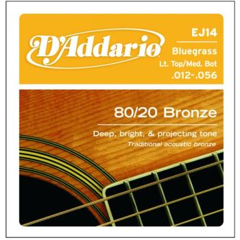 D'Addario 80/20 Bronze Acoustic Strings, Bluegrass (DD-EJ14)