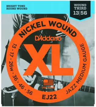 D'Addario XL Nickel Guitar Strings, Jazz Medium (EJ22)
