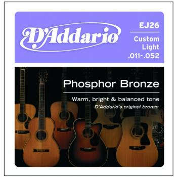 D'Addario Phosphor Bronze Acoustic Strings Cus. Lt (EJ26)