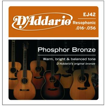 D'Addario Phosphor Bronze Resophonic Strings, Light (EJ42)