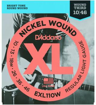 D'Addario XL Nickel Strings, Regular Lt./Wound 3rd (EXL110W)