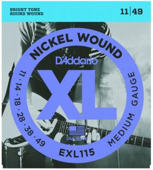 D'Addario XL Nickel Guitar Strings, Blues/Jazz (EXL115)