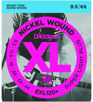 D'Addario XL Nickel Guitar Strings, Super Lt. + (EXL120+)