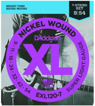 D'Addario XL Nickel 7 String, Extra Light (EXL1207)