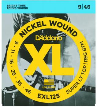 D'Addario XL Nickel, Super Lt. Top/Reg. Bottom 9-46 (EXL125)