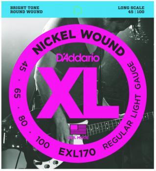 D'Addario XL Nickel Wound Bass Strings, Reg. Light (EXL170)