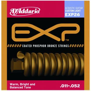 D'Addario EXP Coated Phos. Bronze, Custom Light (EXP26)
