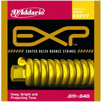 D'Addario EXP Coated 80/20 Bronze Mandolin, Medium (DD-EXP77)