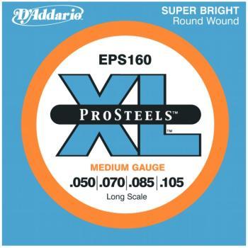 D'Addario XL ProSteels Bass Strings, Medium (DD-EPS160)