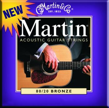 Martin 80/20 PB Acoustic Guitar Strings, Custom Lt (MA-M175)