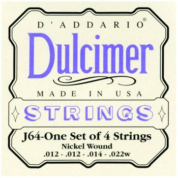 D'Addario Nickel Wound Dulcimer Strings, Medium (DD-J64)