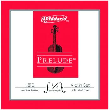 Prelude Medium Tension Violin String Set, 3/4 (PD-J81034M)