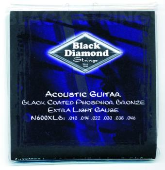 Black Diamond Coated, PB Acoustic Strings, Ex. Lt. (BD-N600XLB)
